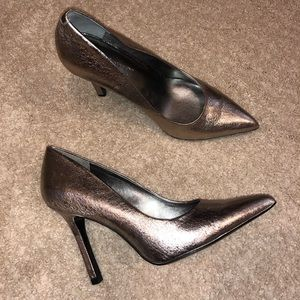 Silver BCBG heels!